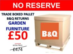 + VAT Grade U Trade Pallet Quantites Of B & Q Returns - Garden Furniture - Retail Value £474.10 ***