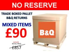 + VAT Grade U Trade Pallet Quantites Of B & Q Returns - Mixed - Retail Value £857.52 ***No