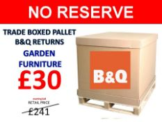 + VAT Grade U Trade Pallet Quantites Of B & Q Returns - Garden Furniture - Retail Value £241.48 ***