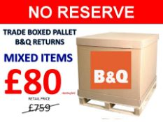 + VAT Grade U Trade Pallet Quantites Of B & Q Returns - Mixed - Retail Value £759.22 ***No