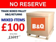 + VAT Grade U Trade Pallet Quantites Of B & Q Returns - Mixed - Retail Value £1011.76 ***No