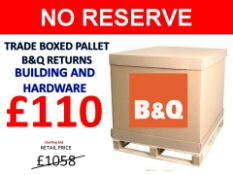 + VAT Grade U Trade Pallet Quantites Of B & Q Returns - Building & Hardware - Retail Value £1058.46