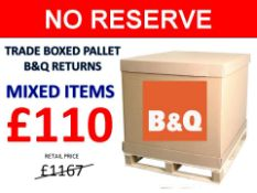 + VAT Grade U Trade Pallet Quantites Of B & Q Returns - Mixed - Retail Value £1167.80 ***No