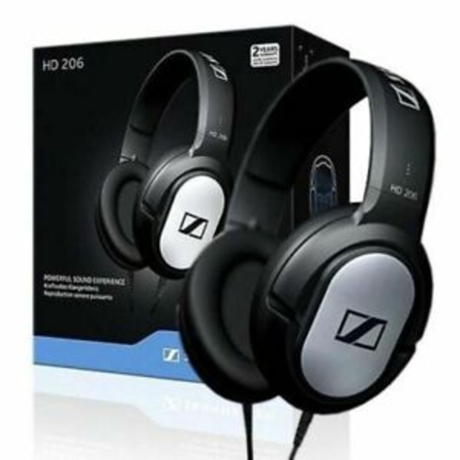 + VAT Grade A Sennheiser HD206 Closed Cup Headphones - Image 2 of 2