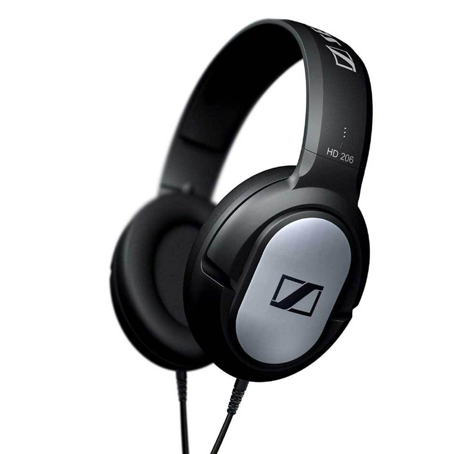 + VAT Grade A Sennheiser HD206 Closed Cup Headphones