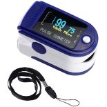 + VAT Brand New Fingertip Pulse Oximeter - Measures Oxygen Saturation And Pulse Rate - Easy To
