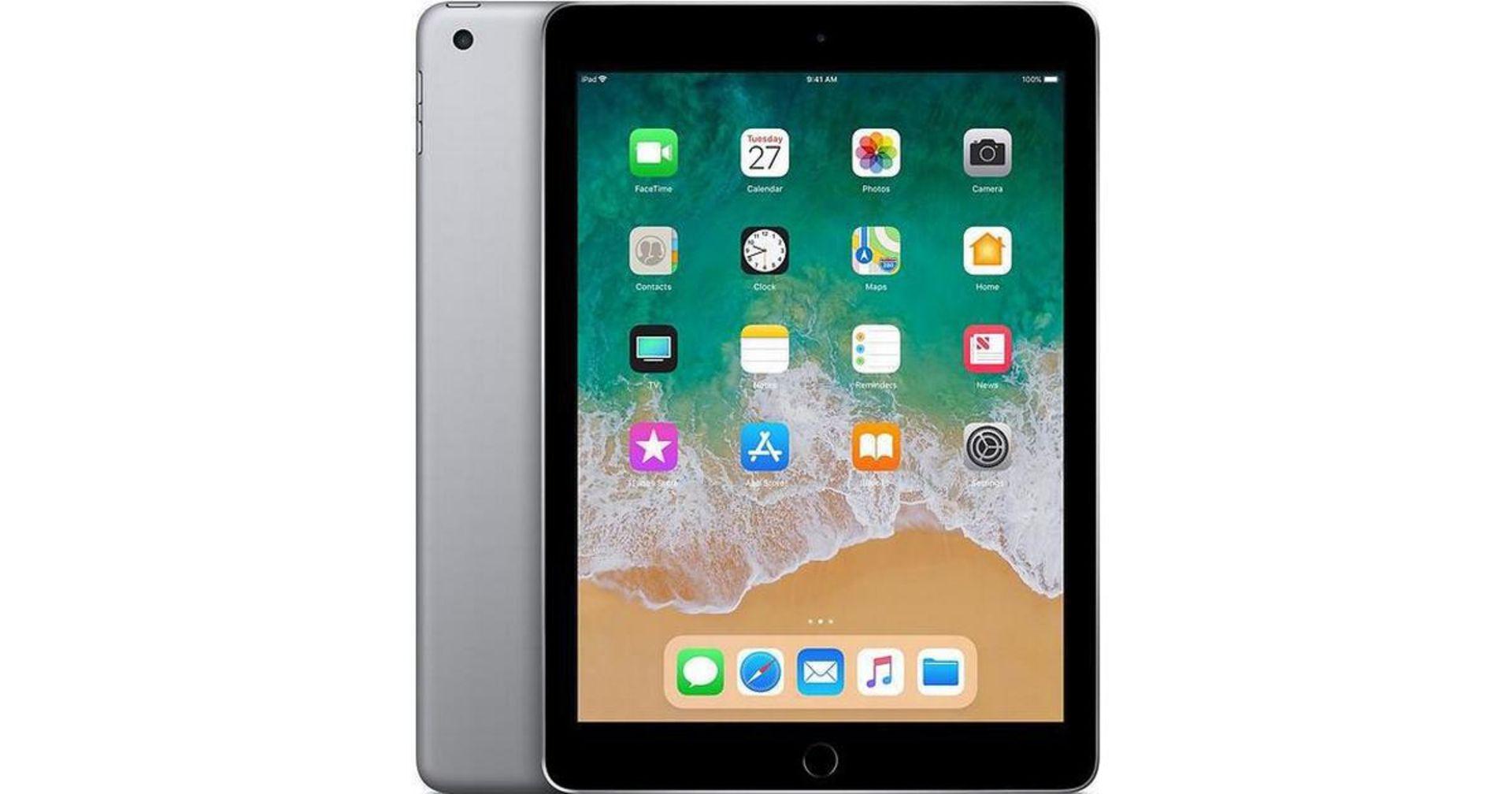 + VAT Grade A 32Gb Apple iPad 6 - 9.7 Inch Screen - Wi-Fi + Cellular - Space Grey