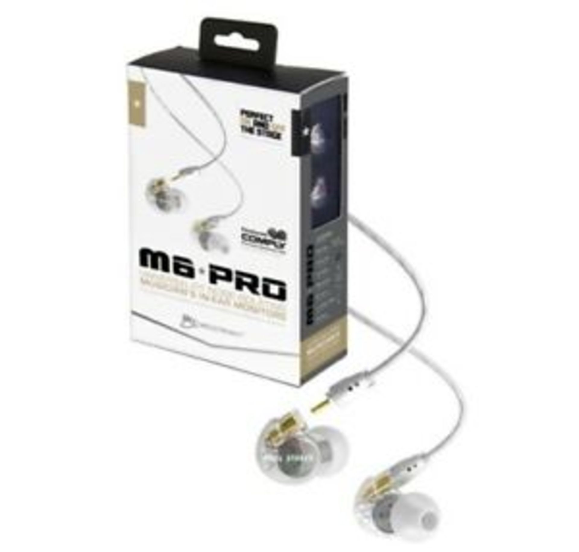 + VAT Grade A Mee Audio M6 Pro Clear Universal Isolating Musicians In Ear Monitors - Image 2 of 2