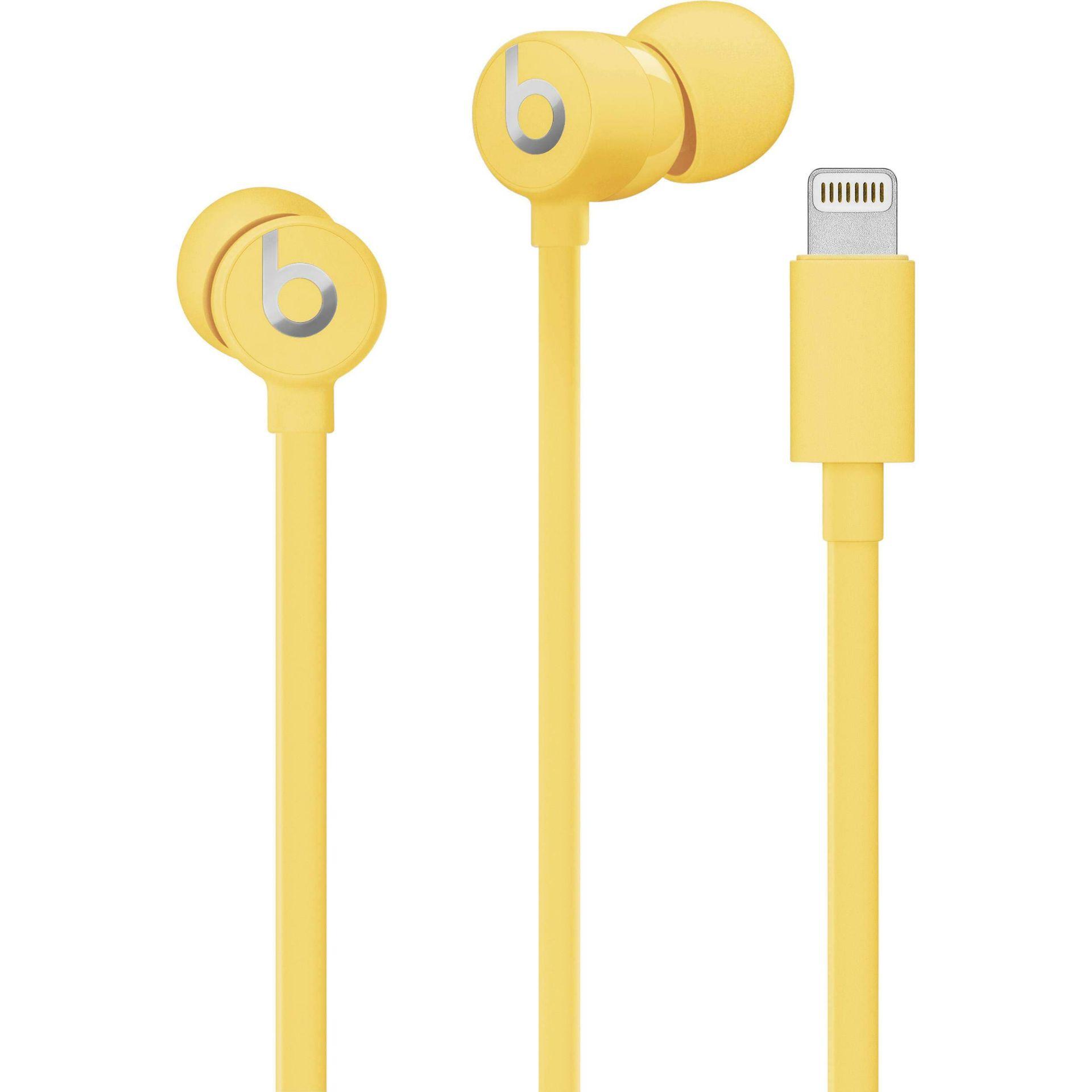 + VAT Brand New UrBeats 3 Earphones With Lightning Connector - Yellow - Ergonomic Design - High