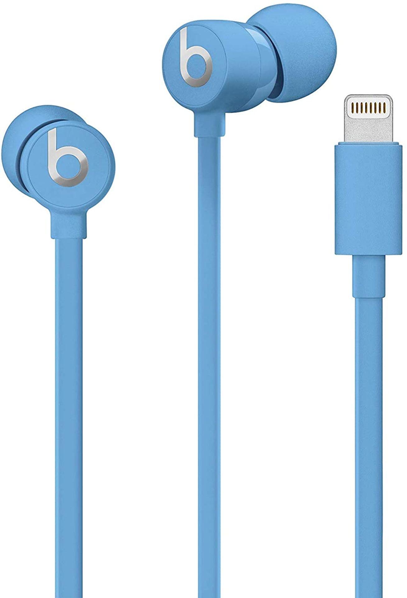 + VAT Brand New UrBeats 3 Earphones With Lightning Connector - Blue - Ergonomic Design - High