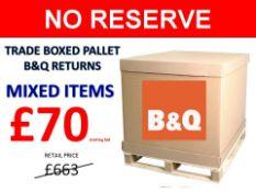 + VAT Grade U Trade Pallet Quantites Of B & Q Returns - Mixed - Retail Value £663.60 ***No