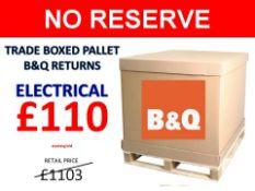 + VAT Grade U Trade Pallet Quantites Of B & Q Returns - Electrical - Retail Value £1103.26 ***No