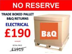 + VAT Grade U Trade Pallet Quantites Of B & Q Returns - Electrical - Retail Value £1919.86 ***No