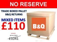 + VAT Grade U Trade Pallet Quantites Of B & Q Returns - Mixed - Retail Value £1041.04 ***No