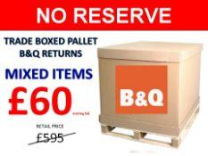 + VAT Grade U Trade Pallet Quantites Of B & Q Returns - Mixed - Retail Value £595.20 ***No