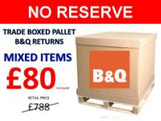 + VAT Grade U Trade Pallet Quantites Of B & Q Returns - Mixed - Retail Value £788.10 ***No