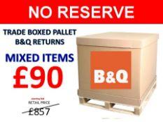 + VAT Grade U Trade Pallet Quantites Of B & Q Returns - Mixed - Retail Value £857.52 ***No