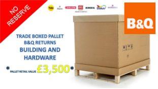 + VAT Grade U Trade Pallet Quantites Of B & Q Returns - Building And Hardware - Retail Value £
