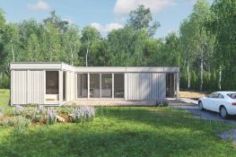 + VAT Brand New Glamping Cube 42 M2 L Shape - 4 Units Garden Cube Frames From Spruce 3 x 3m (2