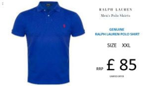 + VAT Brand New Ralph Lauren Custom-Fit Small Pony Polo Shirt - Graphic Royal - Size XXL - Ribbed