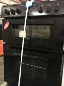 + VAT Grade A/B Bush BDBL60ELB 60cm Double Oven Electric Cooker - Four Ceramic Hobs - Two Functions