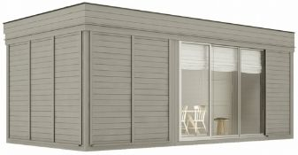 + VAT Brand New Huge Luxury 3m x 6m Sauna Cube With Lounge Room - Sauna Benches - 9KW Electric