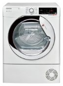 + VAT Grade A/B Hoover DXC 9TCE 9kg Condenser Tumble Dryer - 15 Drying Programmes - 30 Minute Quick