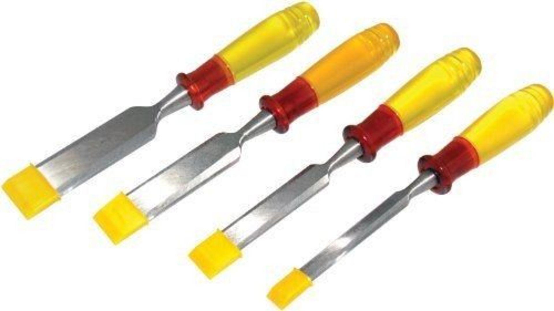 + VAT Brand New 482e Chisel Set With Bevel Edged Hardened Steel Blades, Hardened Split proof