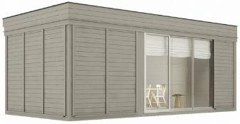 + VAT Brand New Huge Luxury 3m x 6m Sauna Cube With Lounge Room - Sauna Benches - 13.5KW Electric