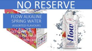 + VAT Pallet Of 112 Cases Of Flow Akaline Spring Water - Assorted Flavours - Ph8.1 - Eco Friendly