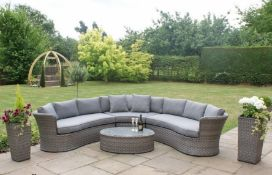 + VAT Brand New Chelsea Garden Company 5-Seater Semi Circular Corner Set - Item Is Available Approx
