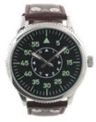 + VAT Brand New Gents Luftwaffe Aviator 1940s World War II Watch in Presentation Box