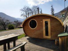 + VAT Brand New Hobbit House - 236 x 405 x 240cm - 28/42mm Thickness - Pallet Dimensions 400 x 120