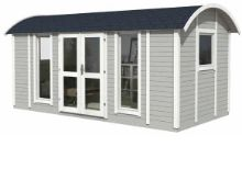 + VAT Brand New 10.90m Sq Reading Room Garden House - 240 x 480 x 240cm - 19mm Thickness - Pallet