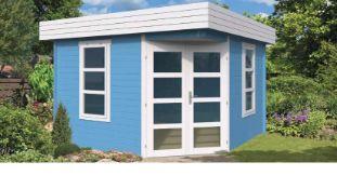 + VAT Brand New 10.89m sq Clara Corner Cabin - 40mm Thickness - 230 x 330 x 330cm - Pallet
