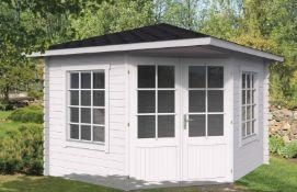 + VAT Brand New 12.2m Sq Carmen Corner Cabin - 40mm Thickness - 272 x 350 x 350cm - Pallet