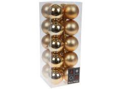 + VAT Brand New Set Of 20 Luxury Christmas Baubles