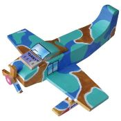 + VAT Brand New Make Your Own Wooden Plane Set inc Acrylic Paint - Brush - Glue - Stickers RRP £29.