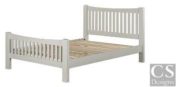 "+ VAT Brand New CS Designs ""Daylesford"" King Size Bed Frame With Natural Oak & Solid Hardwood"