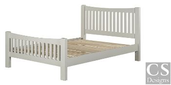 """+ VAT Brand New CS Designs """"Daylesford"""" Double Bed Frame With Natural Oak & Solid Hardwood Painted"""