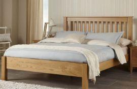 "+ VAT Brand New CS Designs ""Windsor"" Natural Oak Double Bed Frame - Brand New Stunning Quality -"