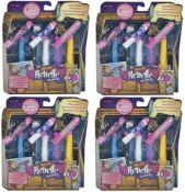 + VAT Brand New 4 Packs Of Nerf Rebelle Charmed 8x Dart Refills With 3 Charms For Your Bracelet -