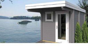 + VAT Brand New 9.40m Sq Spruce Eero Flat Sauna 70mm Thickness - 249 x 244 x 387cm - Including