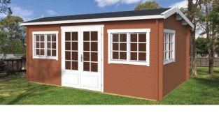 + VAT Brand New 18.20m Sq Swindon Spruce Garden House - 40mm Thickness - 245 x 520 x 350cm - Pallet