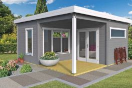+ VAT Brand New 20.20m Sq Spruce Werder Garden House - 50mm Thickness - 249 x 535 x 535cm - Pallet
