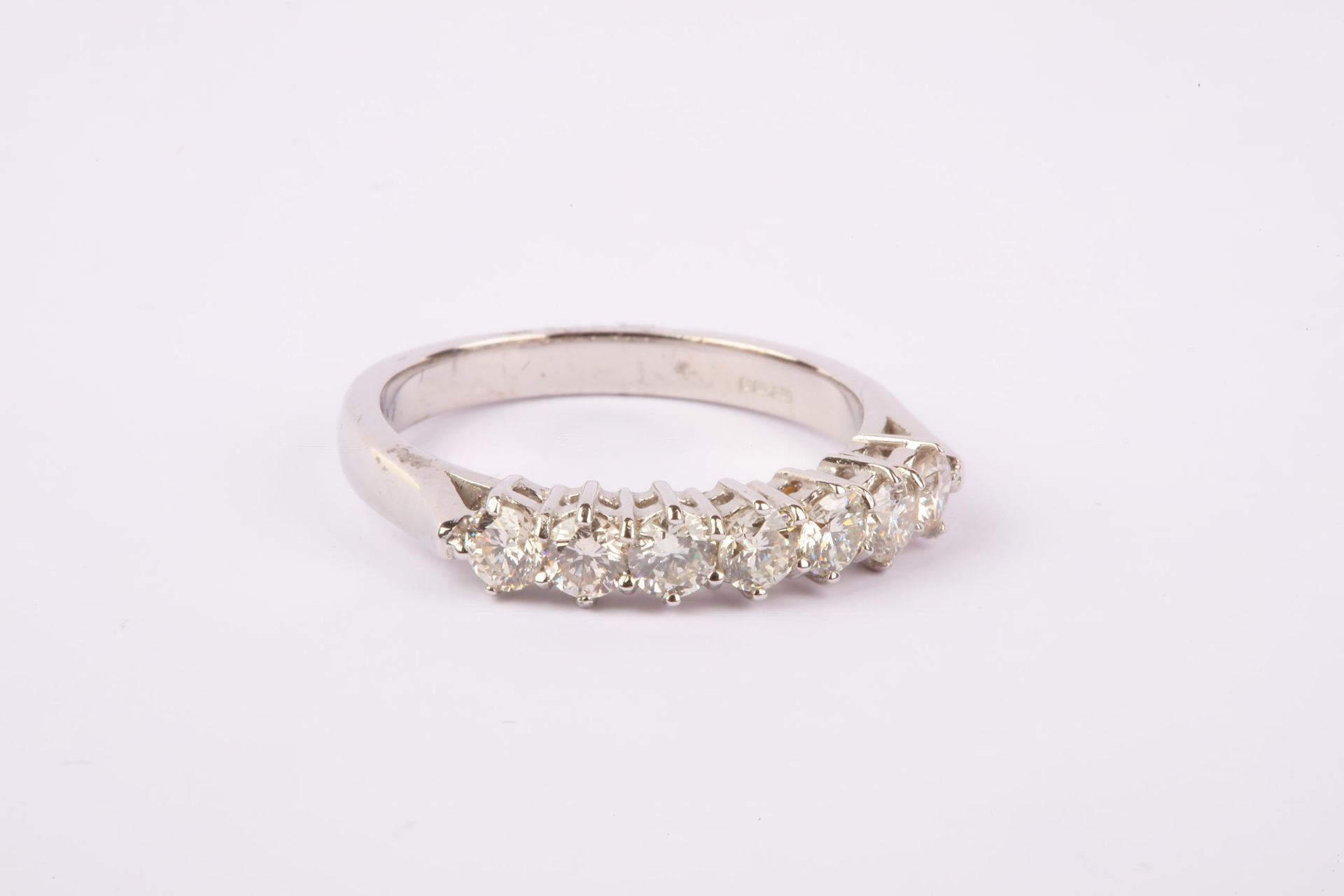 + VAT Brand New 18ct White Gold Diamond Eternity Ring 1ct