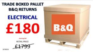 + VAT Grade U Trade Pallet Quantites Of B & Q Returns - Electrical - Retail Value £1799.98
