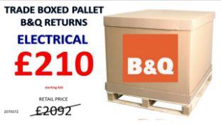 + VAT Grade U Trade Pallet Quantites Of B & Q Returns - Electrical - Retail Value £2092.32