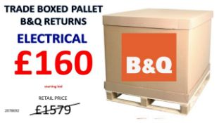 + VAT Grade U Trade Pallet Quantites Of B & Q Returns - Electrical - Retail Value £1579.62