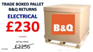 + VAT Grade U Trade Pallet Quantites Of B & Q Returns - Electrical - Retail Value £2256